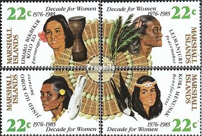Marshall-Islands 46-49 unmounted mint / never hinged 1985 decade for women