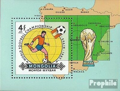 Mongolia block85 unmounted mint / never hinged 1982 Football-WM 1982 in Spain
