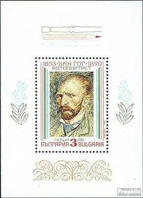 Bulgaria block214 fine used / cancelled 1991 Paintings of Impressionism