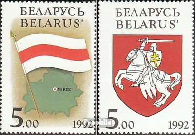 Belarus 4-5 unmounted mint / never hinged 1992 National Symbols