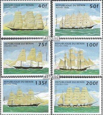 Benin 799-804 unmounted mint / never hinged 1996 Sailboats