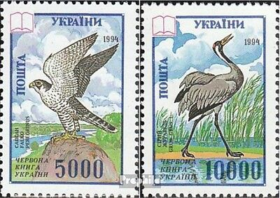 Ukraine 137-138 unmounted mint / never hinged 1995 Affected Birds