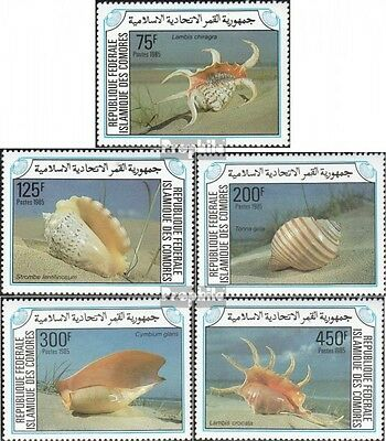 Comoros 746-750 unmounted mint / never hinged 1985 Sea snails