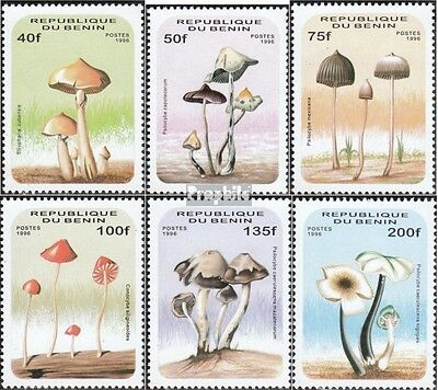 Benin 849-854 unmounted mint / never hinged 1996 Mushrooms