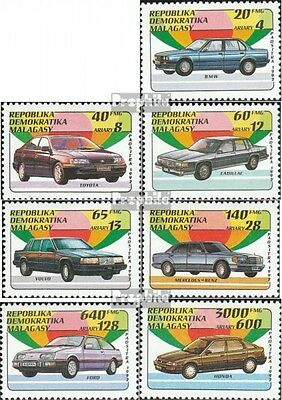 Madagascar 1404-1410 unmounted mint / never hinged 1993 Automobile