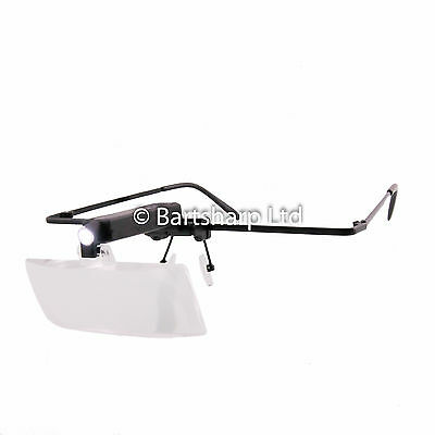 Multi-Magnification Bright LED Illuminated Adjustable Head Magnifier Glasses