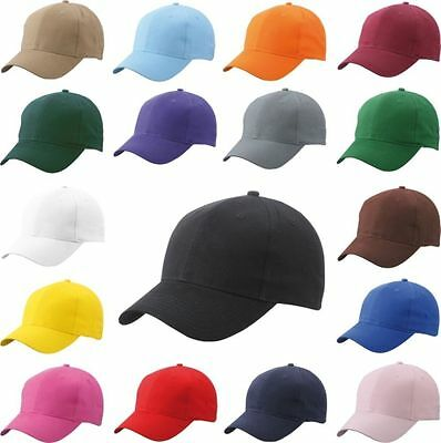 Mens Classic Plain Adjustable Baseball Cap 6 Panels- WORK CASUAL SPORTS LEISURE