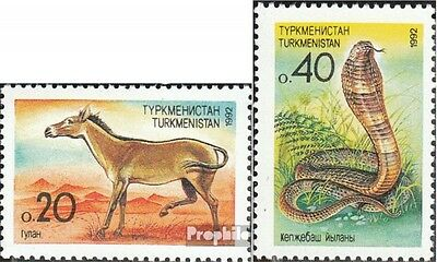 turkmenistan 2-3 unmounted mint / never hinged 1992 Flora