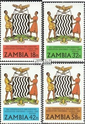 Zambia 233-236 unmounted mint / never hinged 1980 Parliament-Conference