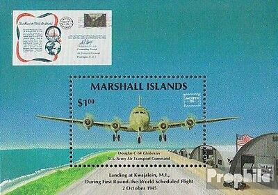 Marshall-Islands block1 fine used / cancelled 1986 Stamp Exhibition