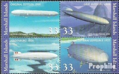 Marshall-Islands 1366-1369 block of four unmounted mint / never hinged 2000 Zepp