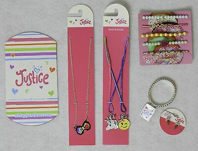 Justice Girl's Jewelry Accessory Mixed Lot w/ Icecream Earrings 5 Pieces as Show