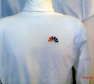Vintage BUT New! NBC Peacock Embroidered Logo Turtleneck X Large Long Sleeve