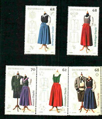 Austria Classic Traditional Costumes Series 2013-16 Mnh Vfine