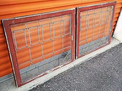 Rare Transom Windows Antique Vintage Art Deco Leaded English Glass Crafts