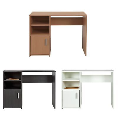 Argos Home Lawson Wooden Office Desk - Choice of Colour (White/Black/Beech)