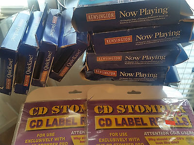 CD, DVD or Blu Ray Maker Kit- 12 cases, 4 stands and 100 Labels