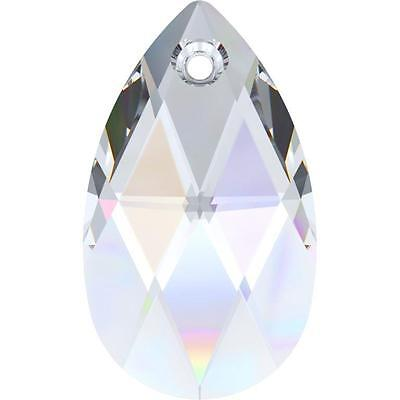 SWAROVSKI CRYSTAL PEAR-TEARDROP PENDANT 16-50mm *6106 *CLEAR-AB ALL COLOURS