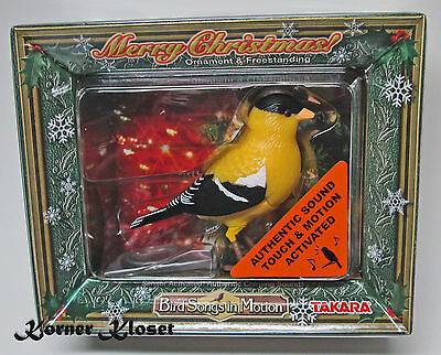 Bird Songs in Motion Goldfinch - Motion & Touch Activated Sound by Takara - NIP