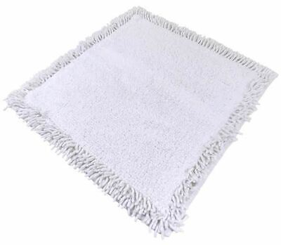 Shower Room Bath Mat Carpet Rug Cotton Chenille Twisted Rope Ivory White 60Cm