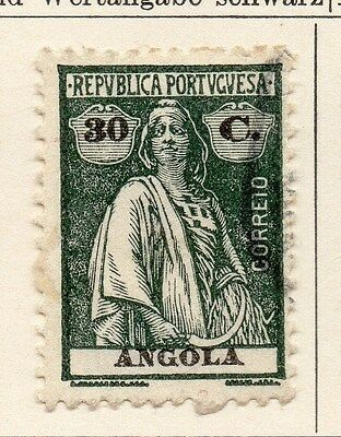 Angola 1922 Early Issue Fine Used 30c. 067577