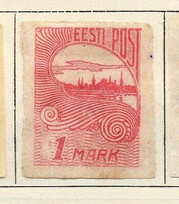 Estonia 1920 Early Issue Fine Mint Hinged 1M. 066668