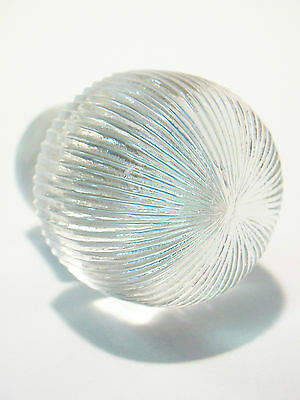 R. LALIQUE - Antique Stopper - Clear Glass - Mushroom Shape - Early 20th Century