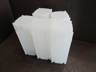 Lot of Five CoinSafe Brand Square Coin Storage Tubes for Quarters