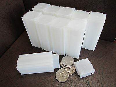 Lot of Ten CoinSafe Brand Square Coin Storage Tubes for Quarters