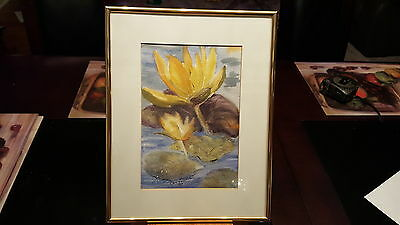 Rare Early Day Original Beverly Adams Matted and Framed Art