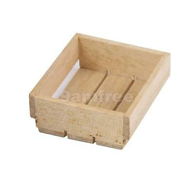 1:12 Scale Wood Tray Box Crate Dolls House Miniature Kitchen Shop Accessory