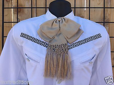 Mexican Bow Tie Charro,Mariachi Champagne Adult  From Mex. Moño Charro Adulto