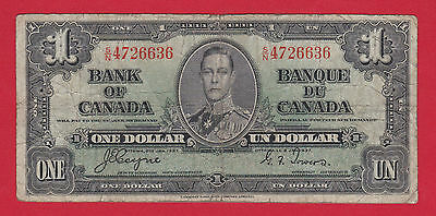 Prefix SN 4726636 Bank of Canada 1937 $1 Note   Coyne Towers     $10