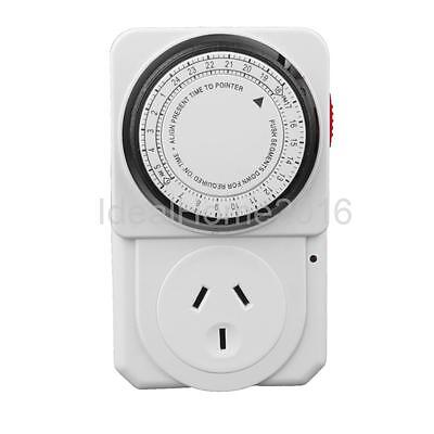 Electrical 220-240V 24H Program Timer Power Switch Energy Savers AU Plug-in