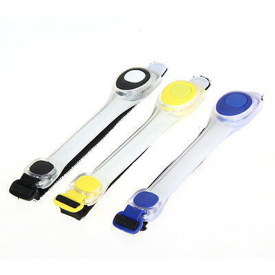 Cycling LED Armband Arm Belt Night Running Safety Reflective Strap w/Battery Hot