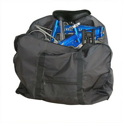 "Bike Transport Carrier Bag  Bicycle Folding Carrier Bag For 14-20"" Black"