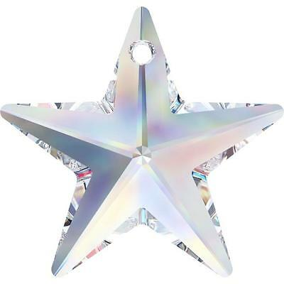 SWAROVSKI CRYSTAL STAR PENDANT 20-40mm *6714 *CLEAR-AB ALL COLOURS *WHOLESALE