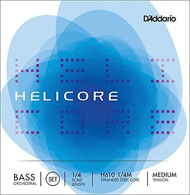 DAddario Helicore 1/4 Scale Medium Tension Orchestral Bass String Set