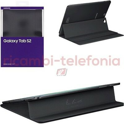 custodia Book Cover originale Samsung T810 Galaxy Tab S2 9.7 nero smart case