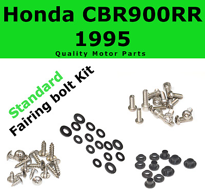 Fairing Bolt Kit body screws fasteners for Honda CBR 900 RR 1995 Stainless