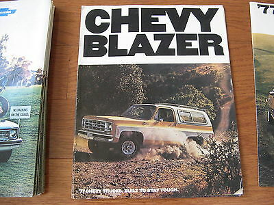 1977 77 Chevrolet Chevy Blazer Dealer Sales Brochure Manual Book