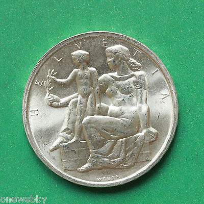 1948 - Switzerland - Silver 5 Franc - Uncirculated - SNo41353