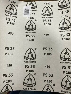 Non-Clog Aluminium Oxide Full Size Sand Paper 230mm X 280mm Pack of 25