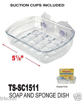 Soap Dish Suction Wall Holder Bathroom Shower Cup Sponge Dish Basket Tray New