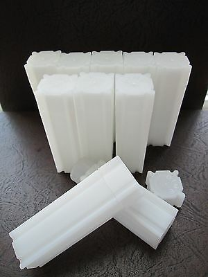 (10) CoinSafe Brand Square Coin Storage Tubes for Dimes