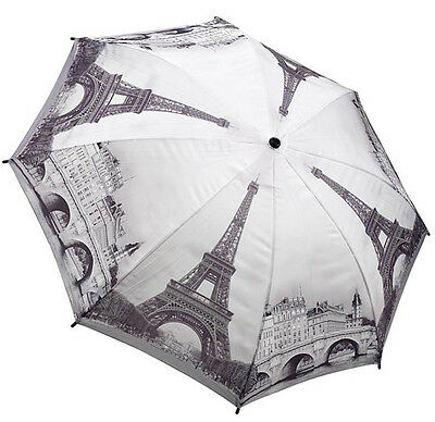 Galleria Paris City Scene Automatic Open Close Folding Umbrella