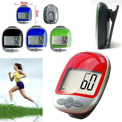 LCD Digital Clip Pedometer Step Walking Distance Calorie Counter Run Calculation