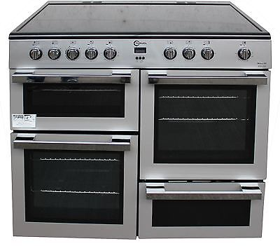 FLAVEL MLN10CRS 100cm Electric Range Cooker in Silver #1789