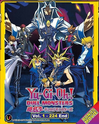 Yu Gi Oh ! Duel Monsters (TV 1 - 224 End + Movie) DVD + FREE DVD