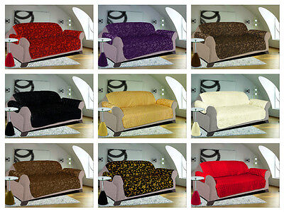 Sofa Slip Cover Jacquard Quilted Furniture Pet Protector Throw 1,2,& 3 Seater